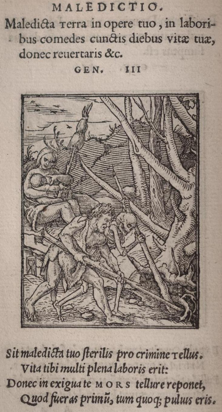 Hans holbein dance of death the help of death while eve suckles cain 25 out of the 35 victims are represented with a sand glass buycottarizona Images
