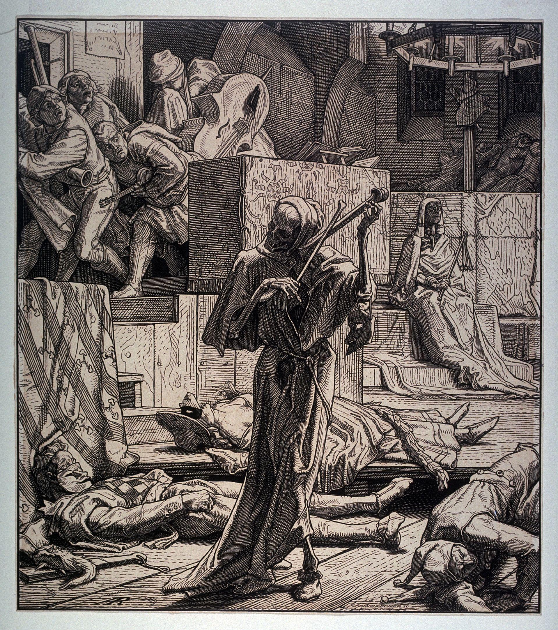 Alfred Rethel la mort égorgeuse